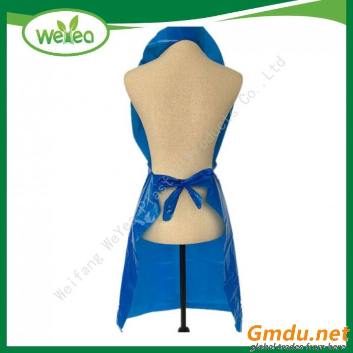 PE White Embossed Disposable Apron On Roll