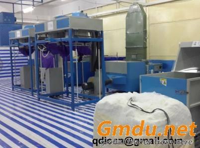 Ball fiber making and filling machine