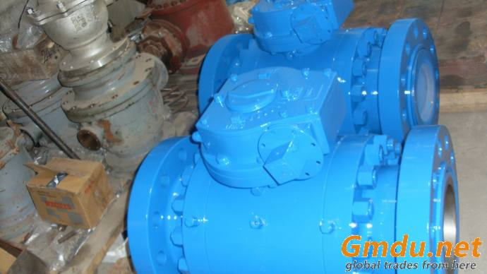 Three Pieces Forged Trunnion Ball Valve