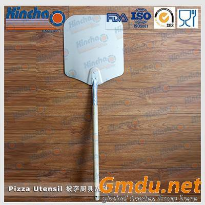 Aluminum Pizza Shovel with Wood Handle