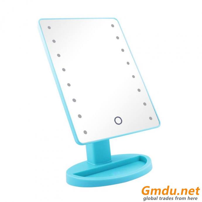 Touch Screen Battery Operated Cordless LED Lighted Vanity Makeup Mirrors
