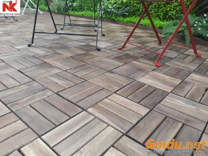 Acacia Wood Interlocking Deck Tile NKDT06