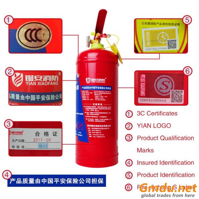 Portable Water Foam Extinguisher (3L)