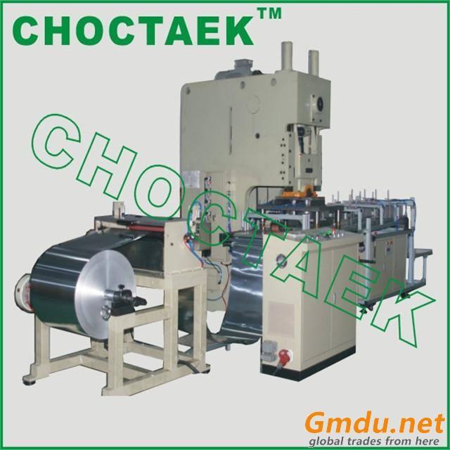 Semi automatic aluminium foil container making machine