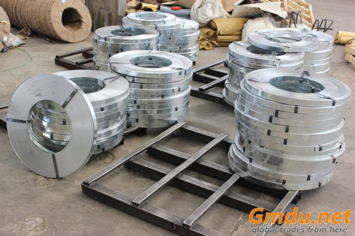 Galvanized steel strapping