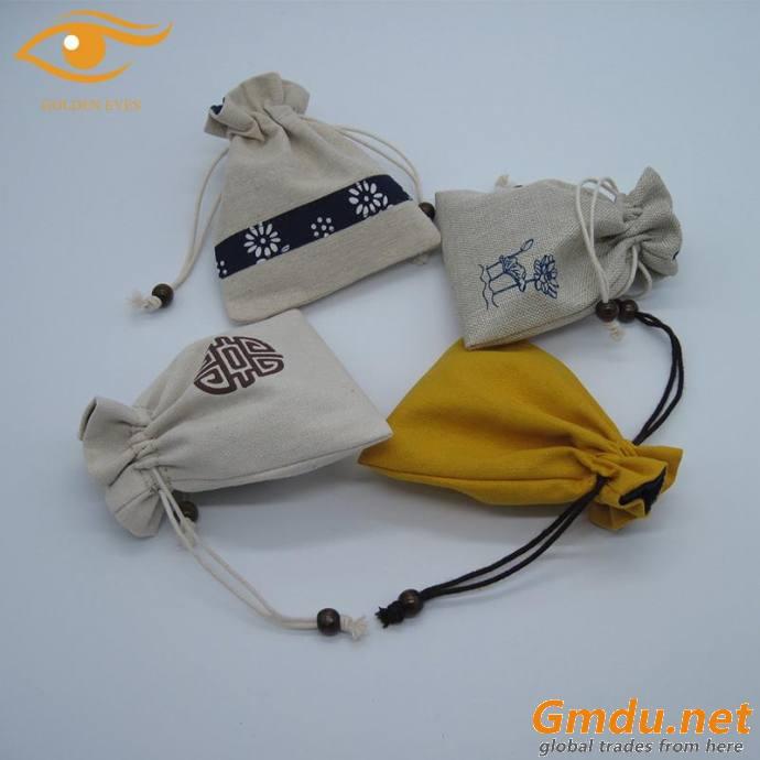 Luxury cotton pounch bag