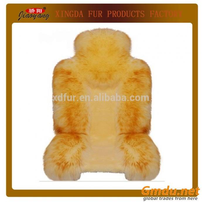 Camel Soft Wool Car Seat Covers, Sheepskin Car Seat Cushion
