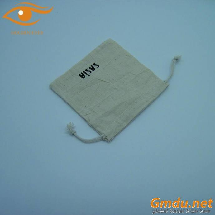 Hot sell drawstring canvas bag with logo printed