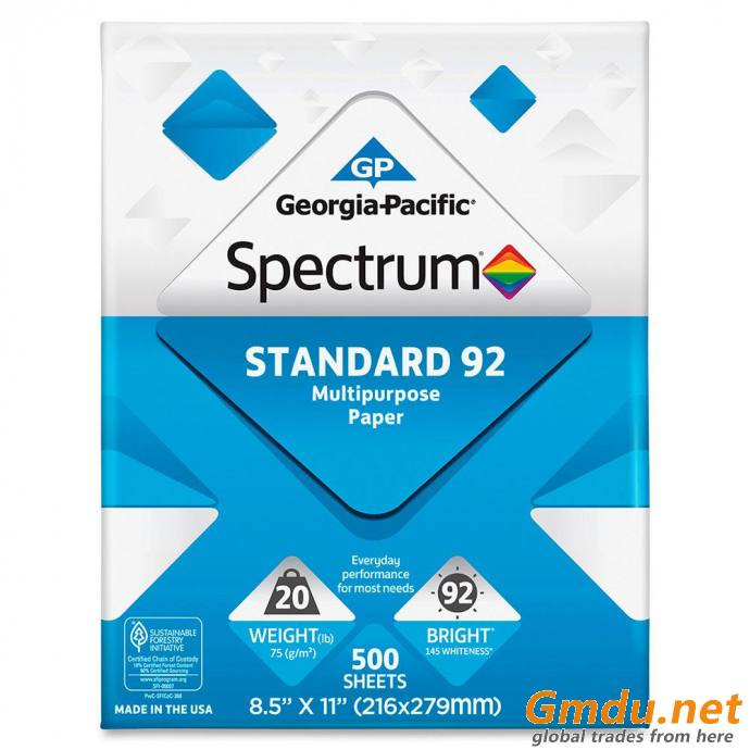 Double A office white wood pulp copy paper