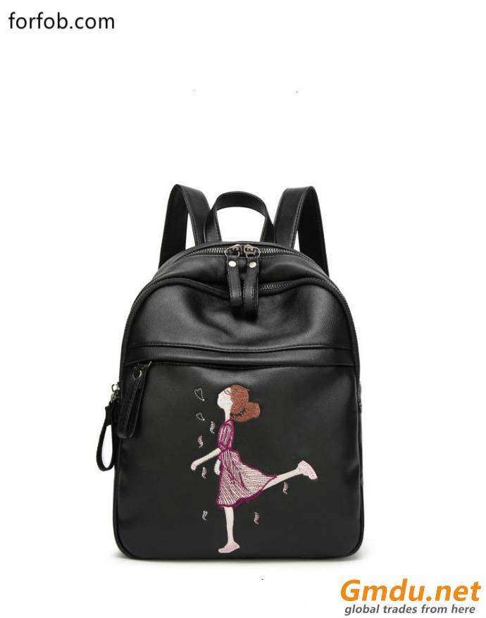lady bag PU leather bag fashion backpack