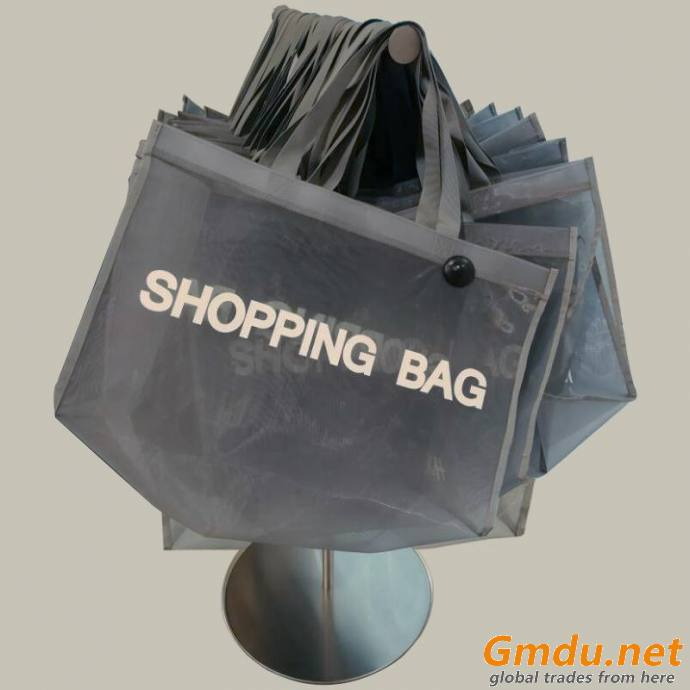 Luxury nylon mesh shopping bag for famous brand clothing store
