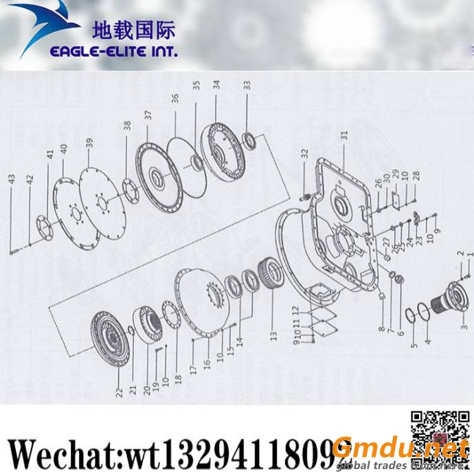 XCMG ZL50G Loader Overrun Clutch Hydraulic torque converter