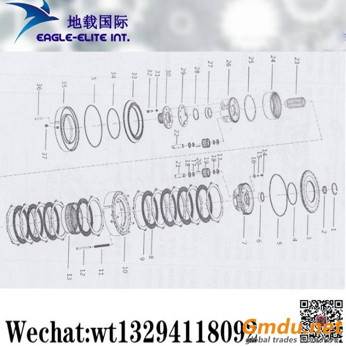 XCMG Loader ZL50G Three Four Five Shafts assembly