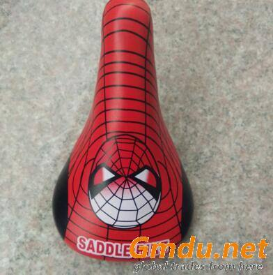 Children bike saddle with colorful picture