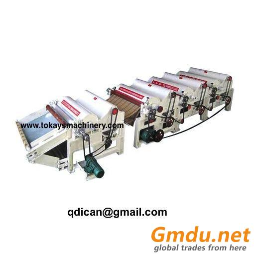 Textile fabric waste recycling machine carding machine