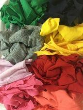 Hosiery fabric clips