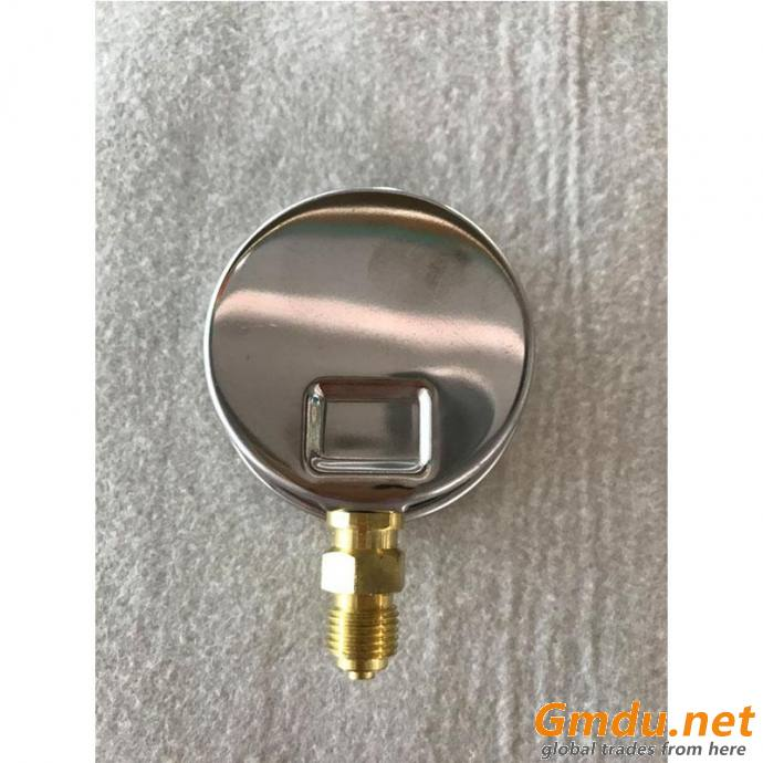 Dial Face Brass Bourdon Tube Bottom Mounting Pressure Gauge
