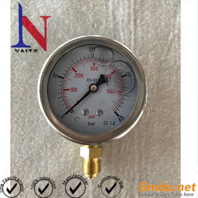 2.5Inch Dial Face Mechanical Movement Pressure gauge