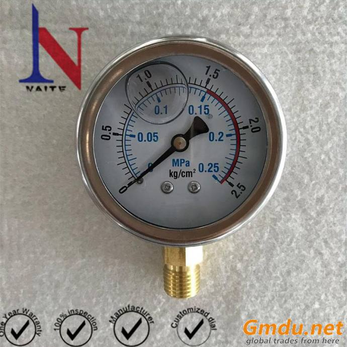 All Sizes Connection And Black Carbon Steel Case Pressure Gauge