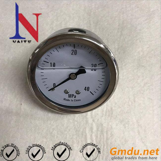 Brass Material and Spring Tube Hydraulic Pressure Gauge