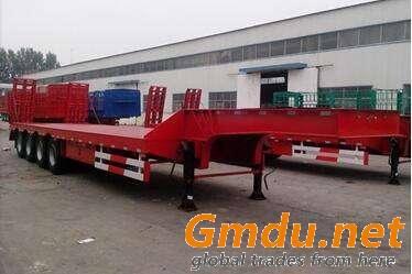 4 axle low bed semi trailer