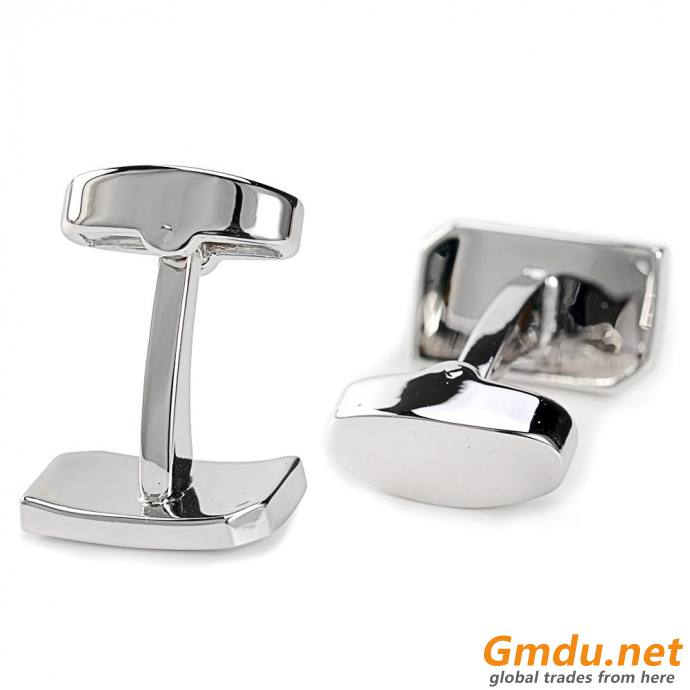 Engrave brush stainless steel sterling silver blank stud sets and custom cufflinks