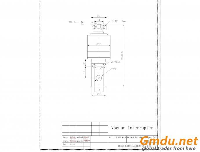 HCJ5 1.14kv 125A vacuum interrupter for vacuum contactor