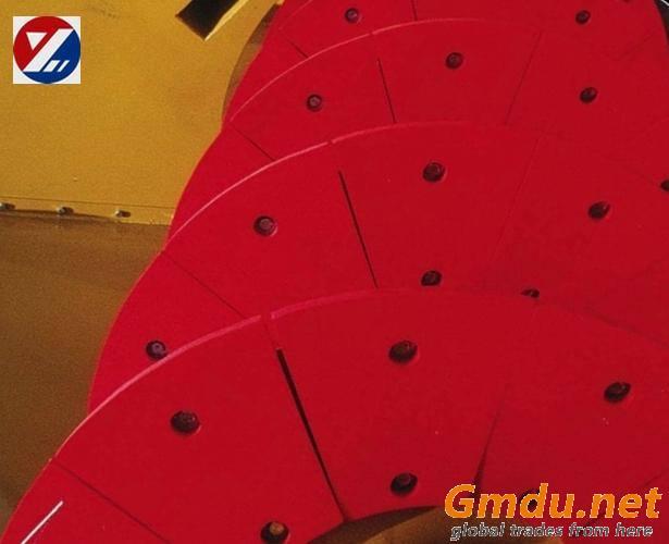 polyurethane classifier shoe/lining sector