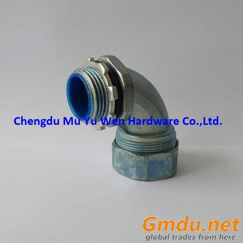 Straight liquid tight zinc die cast fittings for flexible metal conduit
