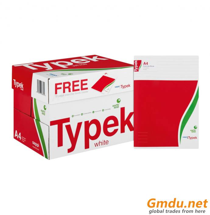 TYPEK A4 Paper Typek Rotatrim Mondi, News Print Bond Paper