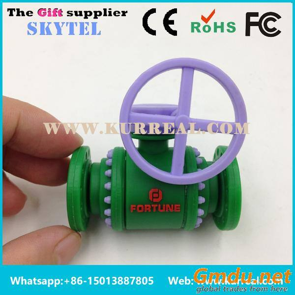 Special Customized 3D PVC Valve USB Flash Drives Gifts Giveaways