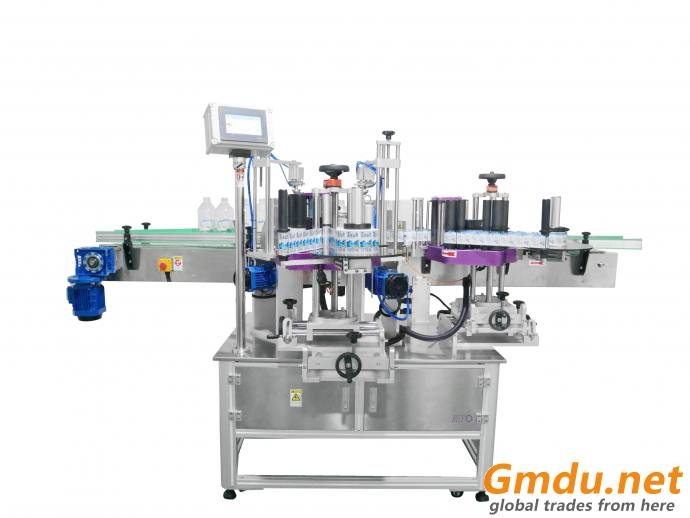 automatic star wheel rotary positioning labeling machine, sticker labeling machine for round bottle can jar RYRS-830WP