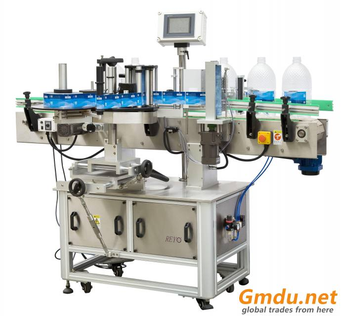 Semi-Automatic Round Beer Water Bottle Labeller Sticker Labeling Machine RYRS-830