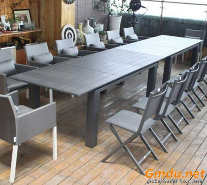 Aluminum conference Table and Chairs