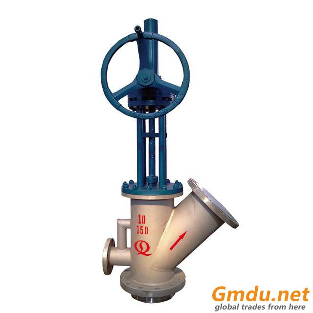 Tank Bottom Angle Valve With Washing Pipe
