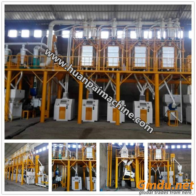 turnkey production line 50ton corn grits making machine