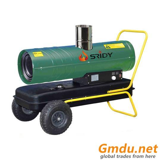 Direct kerosene diesel forced air mobile heater