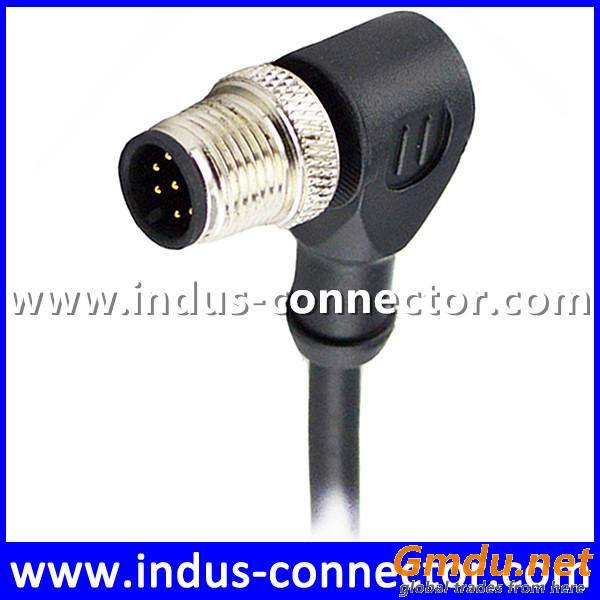 Cat 5 24AWG 3A 2A 1A straight cable sensor female male molded cable
