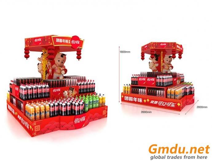 Customized promotional corrugated paper island display/ dumpbin/ standee