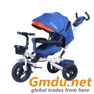 6 In 1 Baby Tricycle Kids Tricycle Trike Stroller