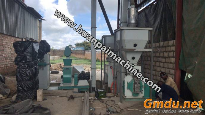 300-700kg/h pellet mill complete feed making machine production line
