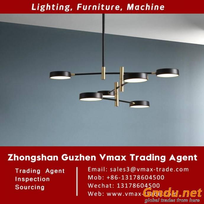 Pendant lighting sourcing and inspection agent in Guzhen lighting market