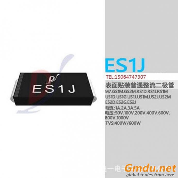 Superfast recovery diodes, SMA, ES1D, ES1G ES1J