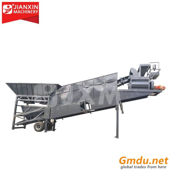 Ready-mixed small portable mobile concrete cement batching plant 25/35/50 m3 prices for sale
