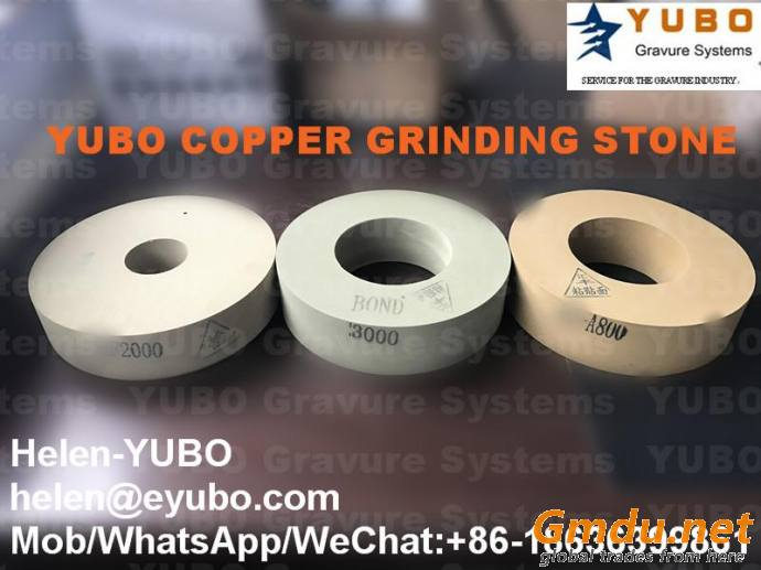 Polishing stone for gravure cylinder copper chrome grinding