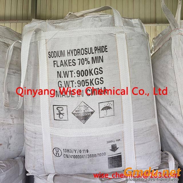 Low Fe NaHS Sodium Hydrosulphide Flakes 70%