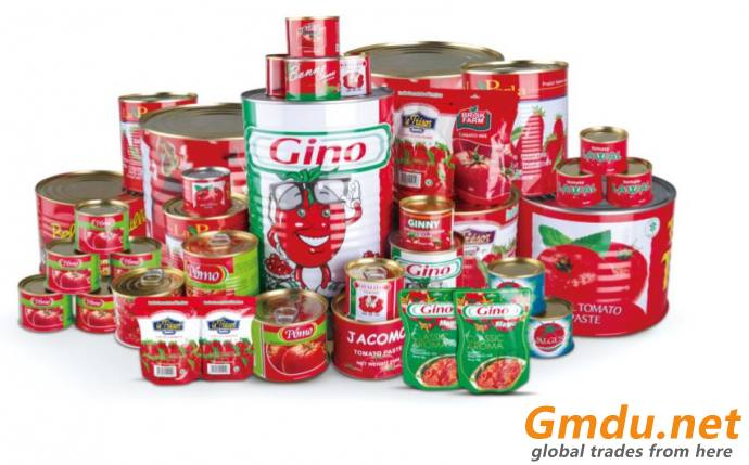 canned tomato paste 18-20% 28-30% brix