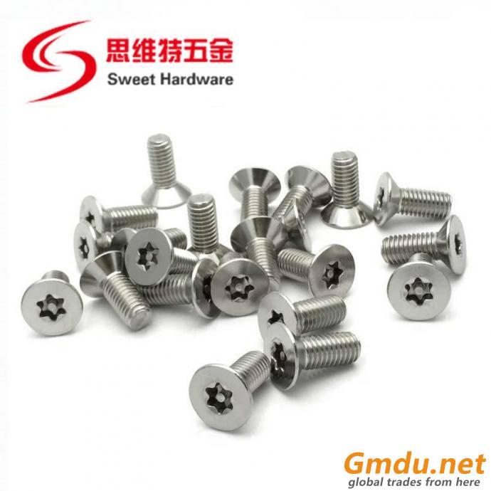Pan head Torx screw anti-theft 304 stainless steel machine screw T8 T10