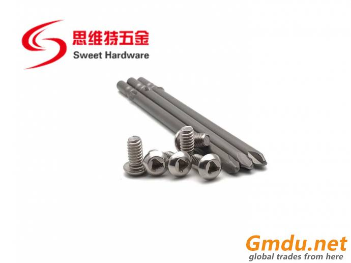SS304 stainless steel security screw TRI WING screw inch standard 1/4-1*2