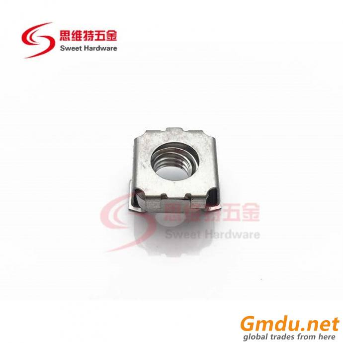 201 304 stainless steel cage nut carbon steel zinc plated cage nut for rack cabinet